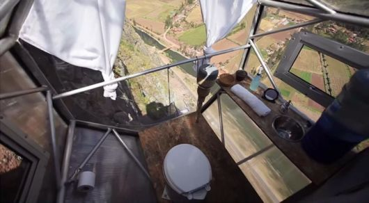 See-Through Sleeping Capsules 400 Feet Above Valley