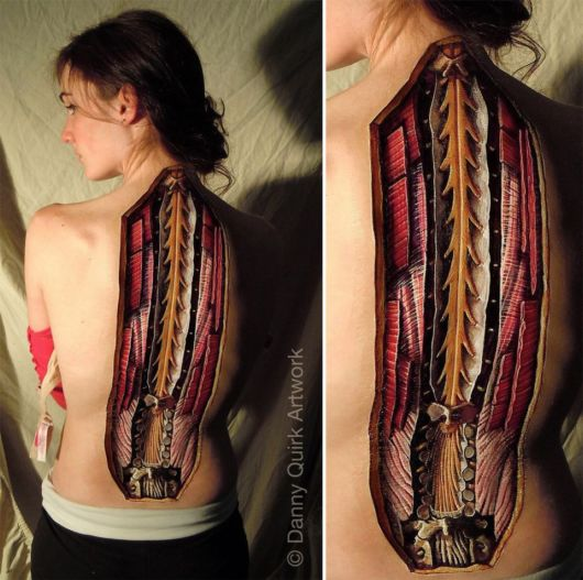 Amazing Anatomical Body Art By Danny Quirk