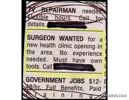 Hilarious Job Ads Collection