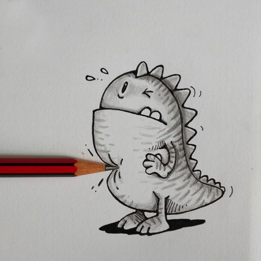 Adorable Doodles That Interact With Real Objects