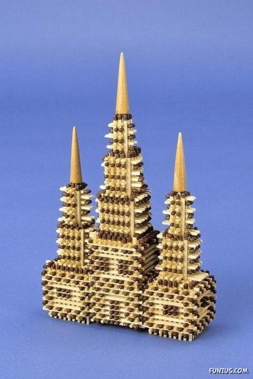 Artistic Objects From Match Sticks