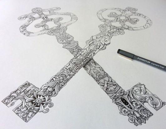 Creative Ornate Ink Illustrations