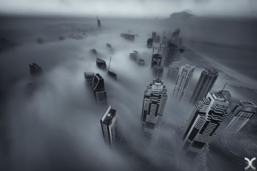 Dubai Buildings Photographed Above The Clouds