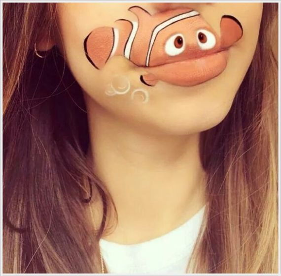 Pretty Disney Lips Paintings