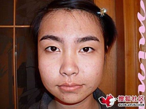 A Girl Before And After Makeup