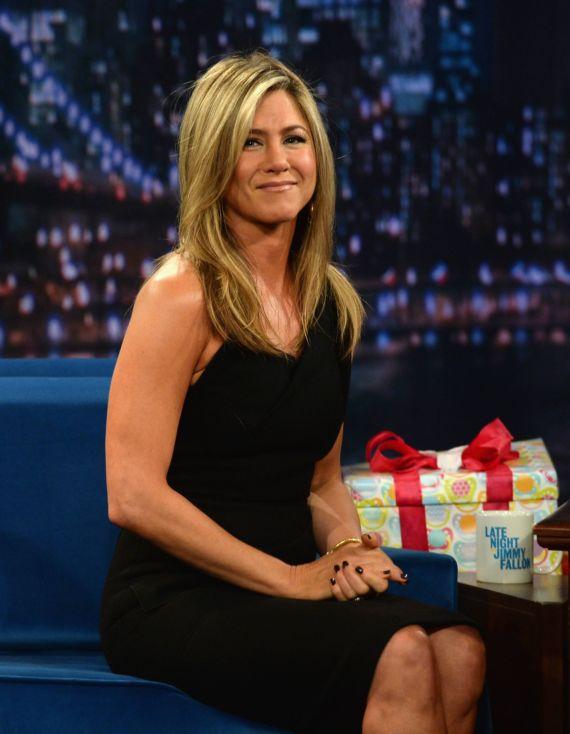 Jennifer Aniston Attends Late Night Show With Jimmy Fallon